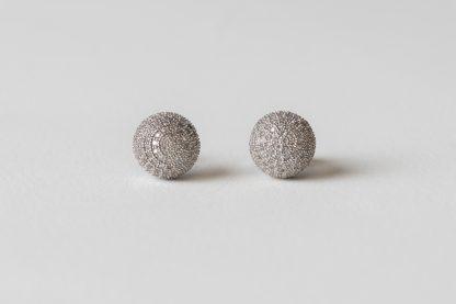 Pendientes de plata con circonita
