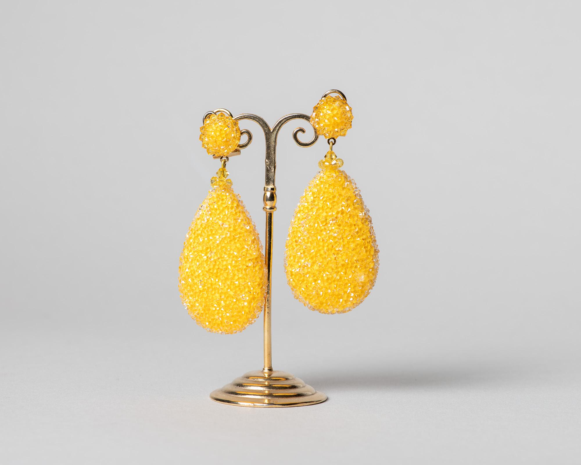 Pendientes Daimiel de cristal de Swarovski amarillo
