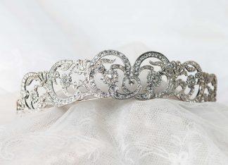 Tiara Spencer en plata y circonitas