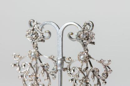 Pendientes de plata con circonitas.