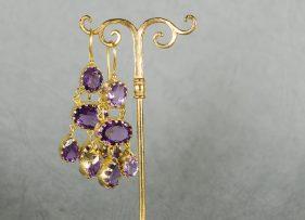 pendientes-plata-dorada-vintage by lopez linares-avim-amatista (3)