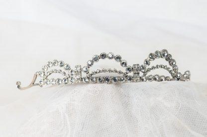 Tiara de plata y circonitas inspirada en la Tiara de Grace Kelly