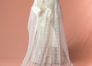 Mantilla de novia Muscari reproduccion del siglo XIX
