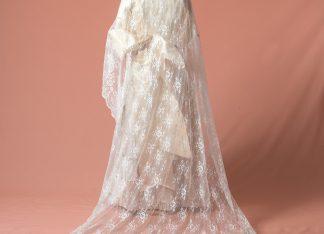Mantilla de novia Nopal reproduccion del Siglo XIX