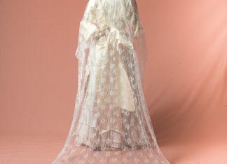 Velo de novia Sabina reproduccion del Siglo XIX
