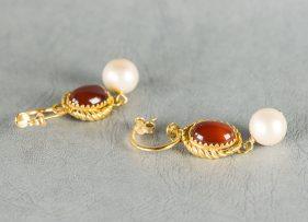 pendientes-plata-dorada-vintage by lopez linares-la bella (2)