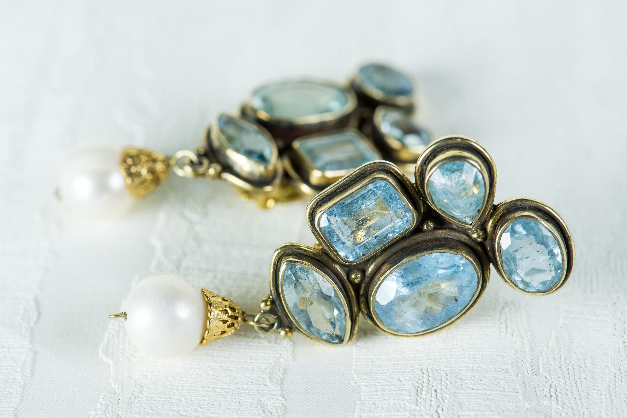 Pendientes eli clip perla l pez linares for Lin s jewelry agana guam