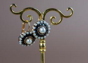 pendientes-vintage-plata-dorada-cronos-zafiro (1)