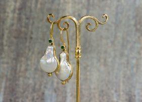 pendientes-vintage-plata-dorada-virginia-esmeralda (1)