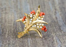 broche-plata-dorada-vintage-ramo-coral (4)