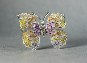 broche-vintage-plata-dorada-mariposa-morpho (3)
