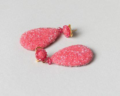 Pendientes Daimiel de cristal de Swarovski rosa