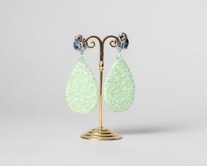 Pendientes Daimiel de cristal de Swarovski verde agua