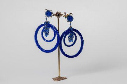 Pendientes en cristal de Swarovski azul eléctrico