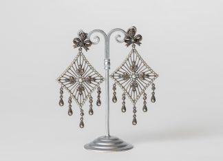 Pendientes en plata con perlas de agua dulce