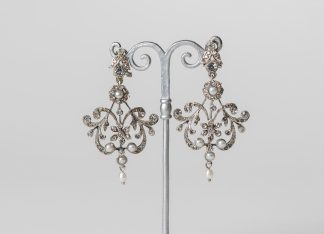 Pendientes en plata y circonitas. Bridal earrings