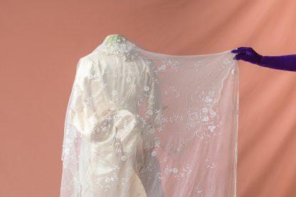 Velo de novia antiguo original de los Años 20