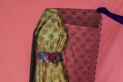 Mantilla Mensis reproduccion de una pieza de chantilly del Siglo XIX