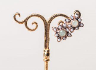 Pendientes Lindu esmeralda reproduccion de una joya Victoriana