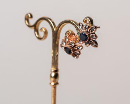 Pendientes Lindu zafiro. Reproduccion de una joya Victoriana