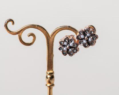 Pendientes Lorea circonita. Realizados a mano son una reproduccion de una joya de la epoca Victoriana