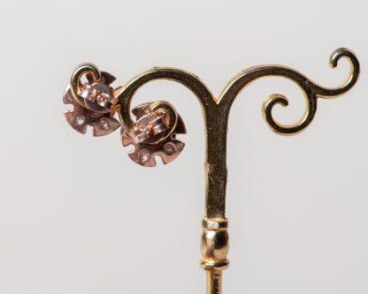 Pendientes Lorea zafiro. Realizados a mano son una reproduccion de una joya de la epoca Victoriana