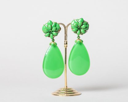 Pendientes Noria verde lima